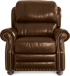 A recliner just for me! I like the Jamison High Leg Recliner by La-Z-Boy! Brown Furniture, Furniture Styles, Home Furniture, Leather Furniture, La Z Boy, Leather Recliner, Leather Chairs, Cool Chairs, Living Room Chairs