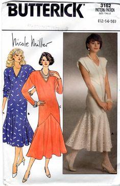 Sewing Patterns Short Evening Dress 1985