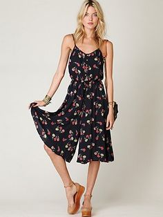 its definitely been a romper summer...but i do not have one in this cute tea length -- to do!