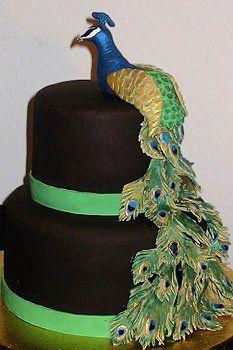 Peacock cake- my birthday idea for my cake