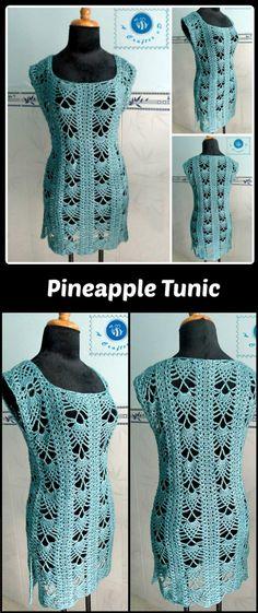 Crochet Pineapple Tunic - 50+ Quick & Easy Crochet Summer Tops - Free Patterns - DIY & Crafts