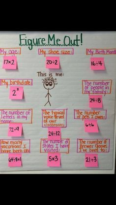 This is a fun first-day activity... children will love discovering these fun facts about their teacher (or their classmates).