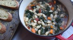 Tuscan Cannellini Bean Soup with Parmesan Toasts | Recipes - PureWow