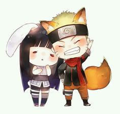 Naruto e Hinata, kawaii demais