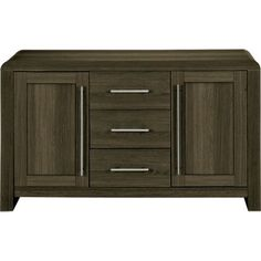 Hygena Strand 2 Door, 3 Drawer Sideboard - Dark Oak at Homebase -- Be inspired and make your house a home. Buy now.