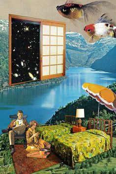 The Greater Outdoors ~ Eugenia Loli Collages, Surrealist Collage, Eugenia Loli, Photomontage, Magazine Collage, Ecole Art, Collage Illustration, Retro Futurism, Retro Art