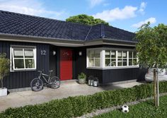 Rød ytterdør Händel fra Swedoor Garage Doors, Outdoor Decor, Design, Home Decor, Identity, Charlotte, Dots, Character, Modern
