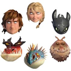 How to Train Your Dragon 2 Mask Assortment