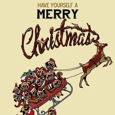 Pug Christmas by Huebucket   ... | HUEBUCKET