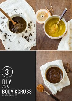 3 DIY Fall Body Scrubs | HelloGlow.co  Clove Oil Scrub especially when you don't feel good! Also GREAT to put on a Q-Tip and place in the mouth if you have ulcers! Place the Q-Tip on the ulcer or sore and hold for a few minutes. Numbs the areas BEAUTIFULLY!!