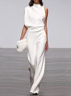 New Clothes - Elegant Jumpsuit White Fashion, Look Fashion, Womens Fashion, Fashion Trends, Fashion Ideas, Party Fashion, Fashion Spring, Cheap Fashion, Dress Fashion