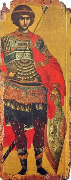View album on Yandex. Byzantine Icons, Byzantine Art, Religious Icons, Religious Art, Saints And Soldiers, Greek Icons, Saint George And The Dragon, Good Prayers, Medieval Paintings
