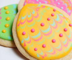 Colorful Easter Egg Sugar Cookies