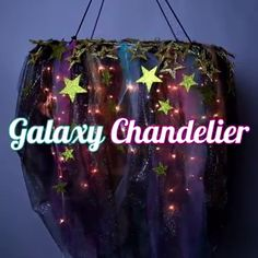 Nice 38 Flawless Diy Chandelier Ideas For Beautify Your Decoration. Galaxy Decor, Galaxy Theme, Diy Galaxie, Outer Space Bedroom, Space Theme Bedroom, Galaxy Crafts, Diy Chandelier, Chandeliers, Partys