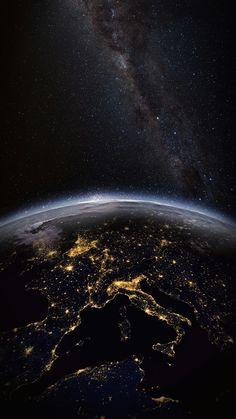 Space Stars Sky Planet Earth Wallpaper Clean Galaxy Colour