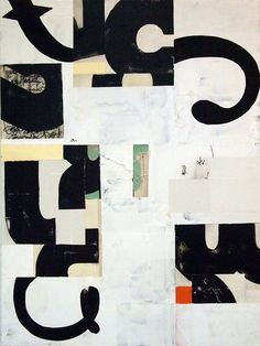 Harold Hollingsworth - have kids write their name paint it then chop and reassemble  Whoa.  Abstract name art
