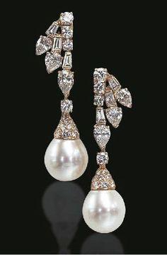 #Pearl #Diamond #Earrings #jewellery
