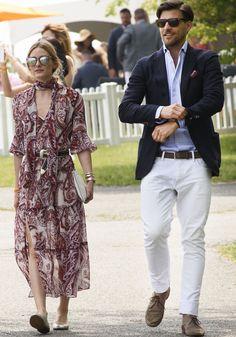 Stylish couple alert: Olivia Palermo and Johannes Huebl look like a fashion magazine spread at the polo match