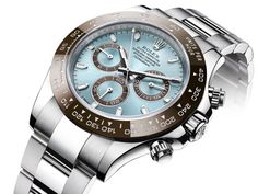 The New Rolex Daytona in platinum brown and steel blue