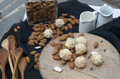 Creamy almond centre in almond flakes. Hand-made artisan chocolate by Bennetts of Mangawhai. Artisan Chocolate, Flakes, Truffles, Chocolates, Centre, Almond, Stuffed Mushrooms, Vegetables, Handmade