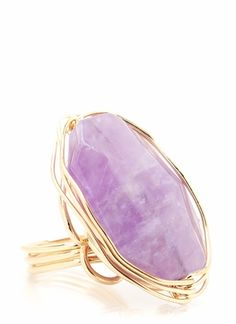 wired stone ring