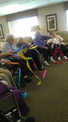 Ribbon Dancing - perfect for people with dementia.