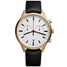 Uniform Wares C41 Series Chronograph Wristwatch (PVD Satin Gold & Black Rubber)