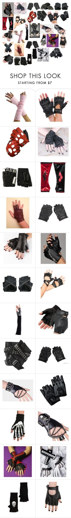 """Gloves 7"" by spellcasters ❤ liked on Polyvore featuring Aspinal of London, Majesty Black, Obesity and Speed, Karl Lagerfeld, Poizen Industries, Leg Avenue, Urstadt.Swan, Hot Topic, 360 Sweater and NIKE"