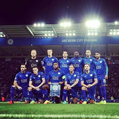 Leicester City line up v Porto before their first ever Champions League game at at Leicester