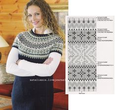 Stitch Patterns, Knitting Patterns, Nordic Sweater, Vest, Pullover, Wool, Nightgown, Crochet Squares, Tricot