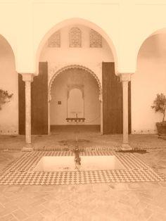 Patio de la Alberca de la Alcazaba.Málaga.