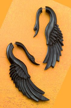 Cheater Gauges Handmade Horn Earrings by: TribalStyle