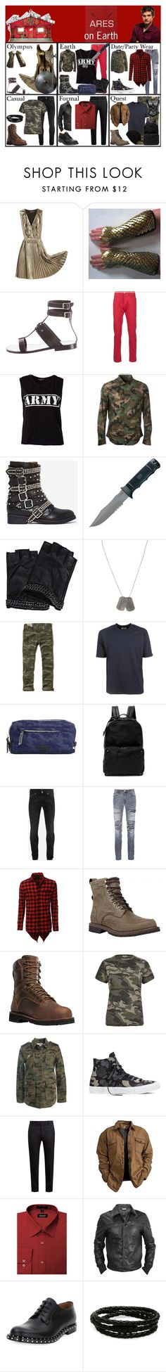 """Areas on Earth (Daniel Sharman as Ares)"" by elmoakepoke ❤ liked on Polyvore featuring Mulberry, Yves Saint Laurent, 3x1, Sally&Circle, Valentino, Jeffrey Campbell, Karl Lagerfeld, Dsquared2, Hollister Co. and Camo"