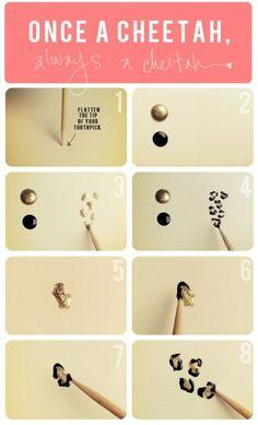how-to cheetah nails