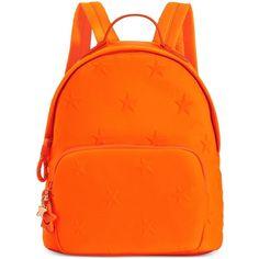 Tommy Hilfiger Sporty Neoprene Stars Mini Backpack (191.325 COP) ❤ liked on Polyvore featuring bags, backpacks, neon orange, lightweight backpack, mini bag, light weight backpack, orange backpack and fluorescent backpack