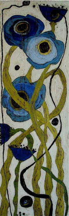 -Karen Tusinski-   'blue poppies'