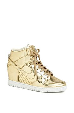 Free shipping and returns on Nike 'Dunk Sky Hi' Hidden Wedge Sneaker (Women) at Nordstrom.com. With its sky-high basketball styling and liquid-metal finish, a hidden-wedge sneaker looks utterly fresh. Perforations at the toe and lining help you keep your cool, too.