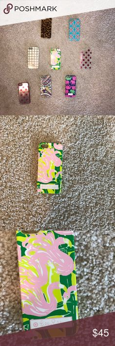 Variety iPhone 5s Designer Cases 8 iPhone 5 cases: Kate Spade, Lilly Pulitzer, Lilly for Target, Vera Bradley. All are in okay condition- can give further detail about individual cases upon request. Priced to sell as a bundle but can make individual listings upon request. 😄❤️ kate spade Accessories Phone Cases