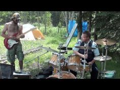 """100th Anniversary, """"911 what's your Emergency, We Need a Drummer"""" Coolest cop ever playing drums in the woods http://ron.heigh.ca"""