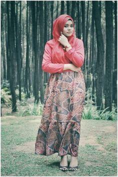 #hijab #red #dress #hijabi #style