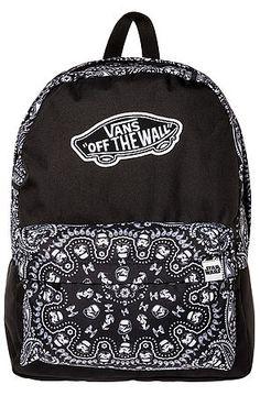 b9ab5668bd Black with design Vans backpack
