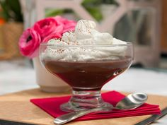 Dark Chocolate Pudding Recipe : Geoffrey Zakarian : Food Network - FoodNetwork.com