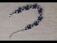 4 mm Köşeli Kristal boncuk ( 4 mm Square Crystal bead) 6 mm Yuvarlak Kristal B. Beaded Jewelry Designs, Bead Jewellery, Seed Bead Jewelry, Crystal Bracelets, Crystal Jewelry, Crystal Beads, Handmade Bracelets, Handmade Jewelry, Jewelry Making Tutorials