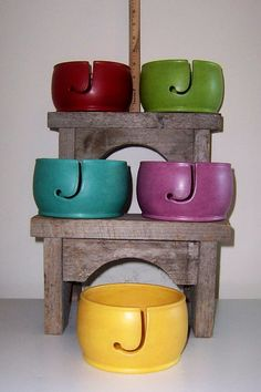 Trendstone Yarn Bowl by ClayCityPottery on Etsy