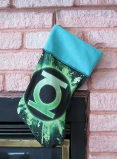 GREEN LANTERN Stocking DIY Upcycled Shirt by DarkStormClothing, $20.00