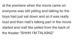 Niall is his own biggest fan.