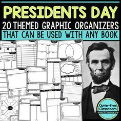 PRESIDENTS DAY | Graphic Organizers for Reading | Reading Graphic Organizers - Your 1st, 2nd, 3rd, 4th, and 5th grade classroom or homeschool students are going to love these engaging, meaningful practice to improve their reading and writing skills. No prep - just print, copy, and go! They're reusable, so you can use the same organizer over and over with different books throughout February or anytime! Use them for brainstorming, organizing, structuring your writing project, and social studie