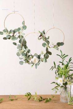 Cotton Eucalyptus Wreath (Set of 3) - White & Green - #bridalshowerdecorations - Make Ling's moment your source for vintage wedding decorations. #1 Brand in French styled artificial flowers, real looking and inexpensive. Over 50 colors flowers to complete your DIY wedding ideas. Shop our large selection of greenery, garlands, table and chair décor, handmade bouquet and more.... Eucalyptus Wreath, Eucalyptus Wedding, Eucalyptus Centerpiece, Bridal Shower Decorations, Diy Wedding Decorations, Bridal Shower Backdrop, Bridal Shower Chair, Diy Wedding Backdrop, Green Party Decorations