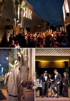Danny and Aaron | Extraordinary Gay Jewish Wedding, with the couple arriving on a unicorn, at Paramount Studios, Hollywood, Los Angeles, USA