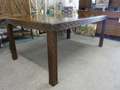 Hollywood Regency Fretwork Dining Table